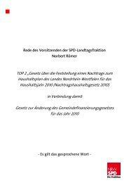 Rede - SPD-Landtagsfraktion NRW