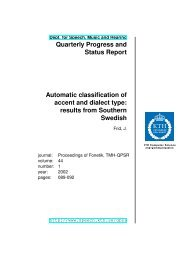 Automatic classification of accent and dialect type - Department of ...
