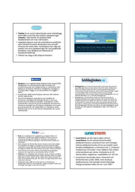 (Microsoft PowerPoint - Sociala medier p\345 internet)