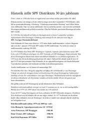 Reportage från 30 års jubileet - Sveriges Pensionärsförbund