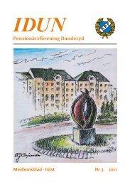 Medlemsblad - höst Nr 3 2011 Pensionärsförening Danderyd