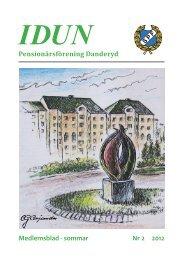Medlemsblad - sommar Nr 2 2012 Pensionärsförening Danderyd