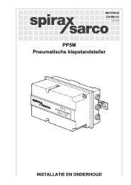 PP5M Pneumatische klepstandsteller - Spirax Sarco