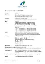 Anstellungsbedingungen SPITEX BERN