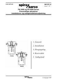 Types PN3000 and PN4000 Series Pneumatic ... - Spirax Sarco