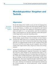 Mundakupunktur: Vorgehen und Technik (Auszug) - Spitta