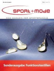 Sonderausgabe Funktionstextilien - sport+mode