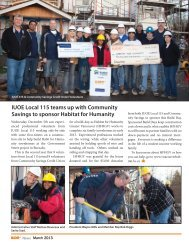 IUOE Local 115 teams up with Community Savings to sponsor Habitat for Humanity