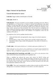 national unit specification - Scottish Qualifications Authority
