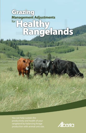 Grazing Management Adjustments for Healthy Rangeland