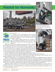 Local 115 Helps Out at Habitat for Humanity