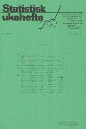 Statistisk Ukehefte 1985, 28 - SSB