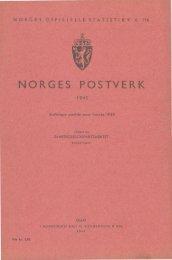Norges postverk 1945 - SSB