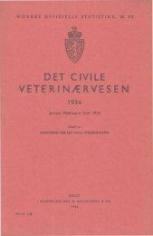 Det civile veterinæsvesen 1934 - SSB