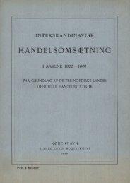 Interskandinavisk handelsomsetning 1900-1906 - SSB