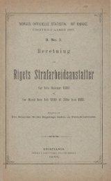 Beretning om Rigets Strafarbeidsanstalter for 1ste Halvaar 1880 og ...