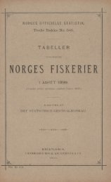 Tabeller Vedkommende Norges Fiskerier i Aaret 1899