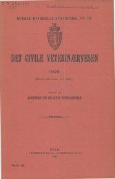 Det civile veterinærnesen 1926