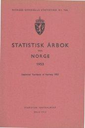 Statististk Årbok for Norge 1953 - Statistisk sentralbyrå