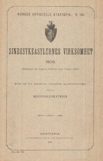 Sindssykeasylernes Virksomhet, 1909. Efter de fra asylerne ...