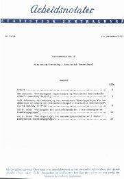 Metodehefte nr. 9 Notater om forskning i Statistisk Sentralbyrå
