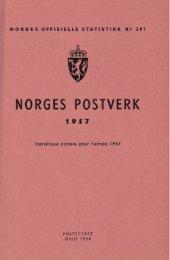 Norges postverk 1957