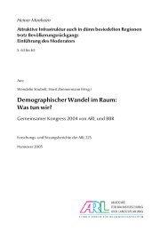 Demographischer Wandel im Raum: Was tun wir? - SSOAR