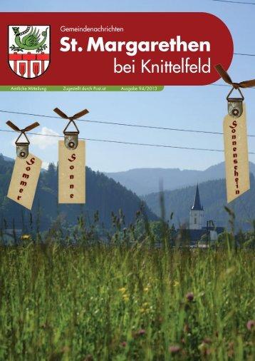Ausgabe 94/2013 - St. Margarethen bei Knittelfeld