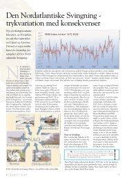Den Nordatlantiske Svingning - trykvariation med konsekvenser - DMI