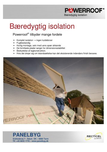 Bæredygtig isolation - F.wood-supply.dk