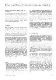 Omvang en spreiding van Surinaamse bevolkingsgroepen in ... - Cbs