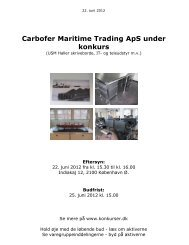 Carbofer Maritime Trading ApS under konkurs - konkurser.dk