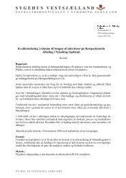 Kvalitetssikring i relation til brugen af aktiviteter på ... - Justitsministeriet