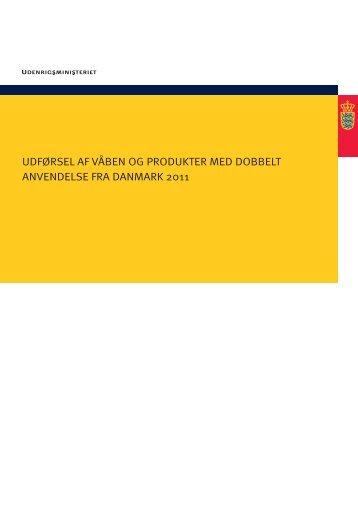 Se rapport om Udførsel af våben og produkter - Justitsministeriet