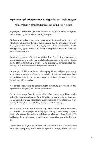 Øget fokus på udrejse – nye muligheder for ... - Justitsministeriet