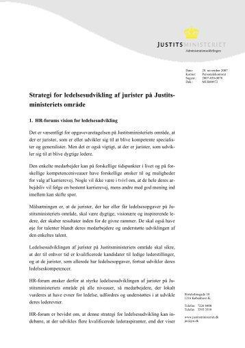 fælles strategi for ledelsesudvikling - Justitsministeriet