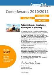 Commawards 2010/2011 Die Anzeige Das ... - Commclubs Bayern