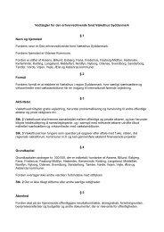 Vedtægter for Væksthus Syddanmark - Erhvervsstyrelsen
