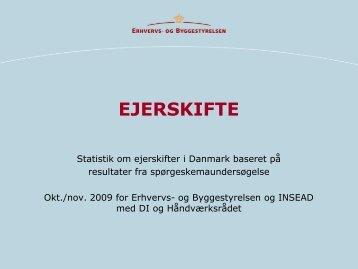 og byggestyrelsen, Statistik om ejerskifter i Danmark baseret på ...