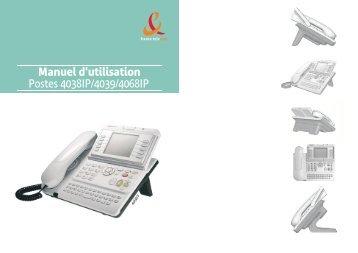 Manuel d'utilisation Postes 4038IP/4039/4068IP - Assistance Orange