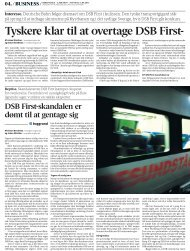 Tyskere klar til at overtage DSB First- Interesse.