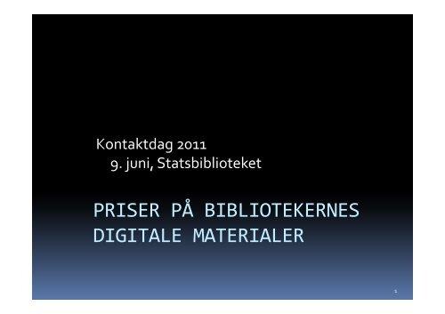 Kontaktdag 2011 - Tom Ahlberg_Underskoven.pdf - Statsbiblioteket