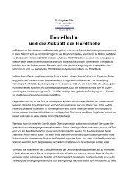 Bonn-Berlin und die Zukunft der Hardthöhe - Stephan Eisel