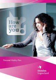 Personal Vitality Plan - Stenden Hogeschool