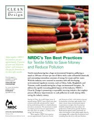 NRDC's Ten Best Practices for Textile Mills to Save Money and ...
