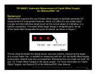 TIP SHEET: Automatic Measurement of Triplet Offset Targets - iWitness