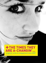 The times they are A-changin'... (pdf, 274KB) - Steunpunt Jeugd