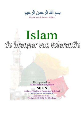 Uitgegeven door - StION | Stichting Islamitische Organisatie Nederland