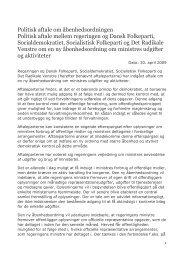 Politisk aftale om åbenhedsordningen Politisk aftale mellem ...