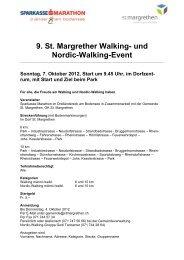 9. St. Margrether Walking- und Nordic-Walking-Event - St. Margrethen
